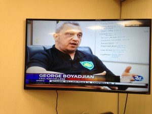 Cannabis Institute - 420 College founder George Boyadjian getting interviewed by Fresno KSEE 24